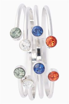 Multicolour Jewelled Bangle Pack