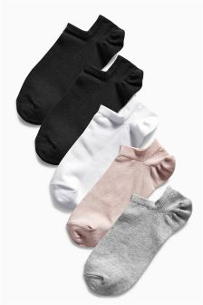 Low Rise Core Mix Trainer Socks Five Pack