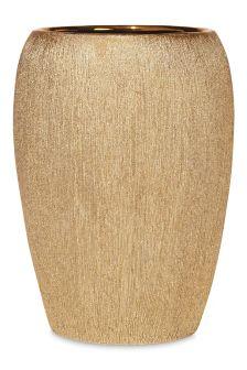 Gold Glimmer Ceramic Bin