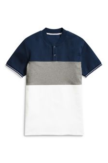 Colourblock Grandad T-Shirt