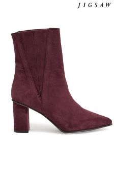 Jigsaw Red Nielson Point Heeled Boot