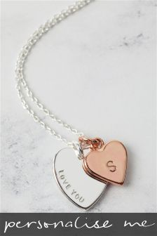 Heart Charm Initial Necklace By Lisa Angel