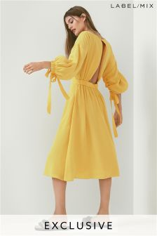 Mix/Kitri Studio Tie Sleeve Dress