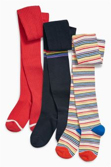 Stripe Tights Three Pack (3-16yrs)