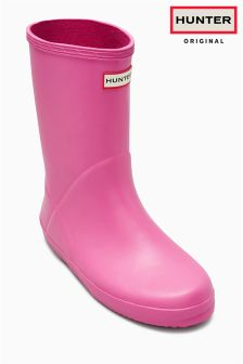 Hunter Navy First Classic Wellington Boot