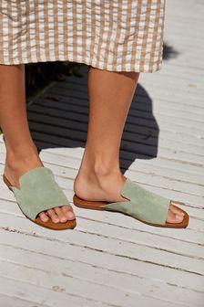 Leather Toe Cap Court Shoes