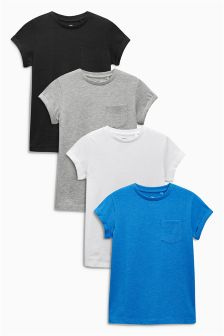 Multi Short Sleeve T-Shirts Four Pack (3-16yrs)
