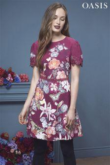 Oasis Botany Lace Trim Skater Dress