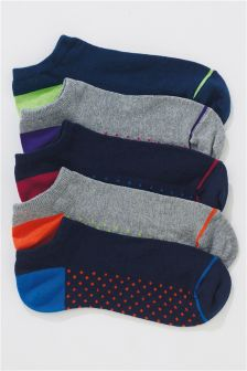 Footbed Trainer Socks Five Pack