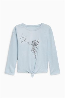 Sequin Fairy Tie Front Top (3-16yrs)