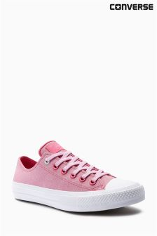 Converse Pink Leather Chuck Taylor All Star ll