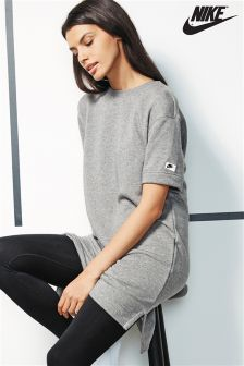 Nike Grey Sportswear Modern Fleece Dress