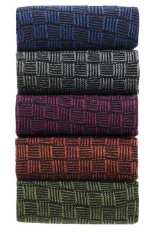 Basket Weave Socks Five Pack