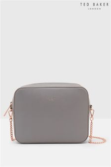 Ted Baker Grey Leather Across Body Bag