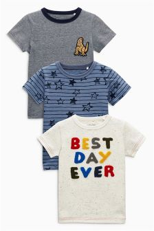Best Day Ever Short Sleeve T-Shirts Three Pack (3mths-6yrs)
