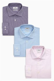 Slim Fit Shirts Three Pack