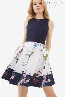 Ted Baker Navy Petati Floral Dress