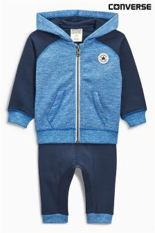 Converse Baby Navy/Blue Joggers And Zip Two Piece Set