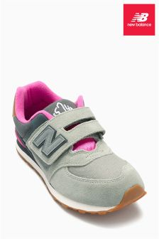 New Balance Grey 574 Velcro Trainer