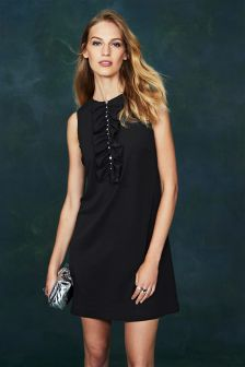 Embellished Front Shift Dress