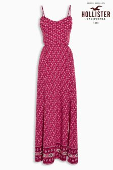Hollister Red Print Maxi Dress