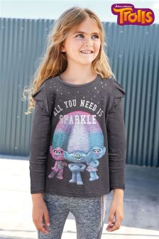Long Sleeve Trolls T-Shirt (3-16yrs)