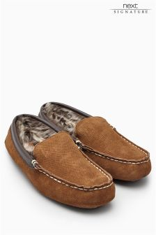 Contrast Stitch Perforated Moccasin