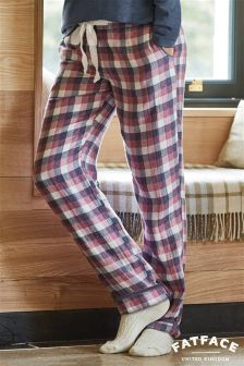 Fat Face Multi Coloured Quilted Check Pyjama Bottom