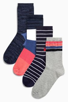 Star Ankle Socks Four Pack