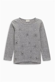 Embellished Long Sleeve Top (3-16yrs)