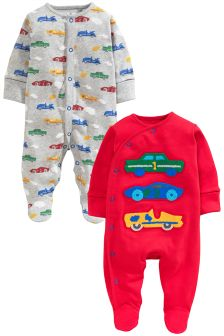 Cars Sleepsuits Two Pack (0mths-2yrs)