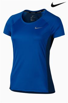 Nike Blue Dry Miler Running Top