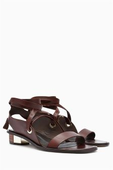 Signature Leather Wrap Sandals