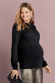 Maternity Sparkle Wrap Top