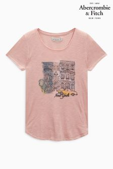 Abercrombie & Fitch Pink New York Tee