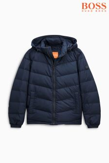 Boss Orange Navy Padded Jacket