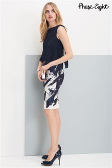 Phase Eight Navy Della Dress