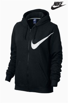 Nike Black Logo Full Zip Hoody