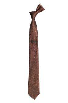 Patterned Tie And Tie Clip