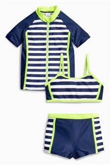 Navy 3 Piece Sunsafe Suit (3-16yrs)