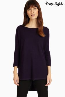 Phase Eight Deadly Nightshade Megg Curve Hem Jumper