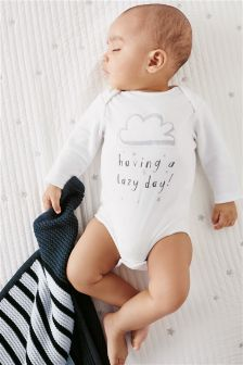 Lazy Days Long Sleeve Bodysuit (0-18mths)
