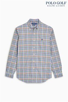 Ralph Lauren Golf Purple Check Shirt
