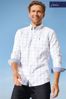 Joules White/Blue Check Welford Shirt