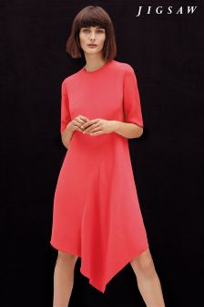 Pink Jigsaw Asymmetric Dress