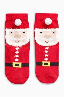 Santa Socks One Pack (Younger Girls)