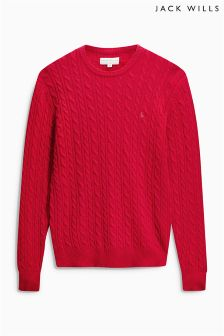 Jack Wills Marlow Cable Knit Jumper