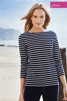 Joules Harbour French Navy Stripe Jersey Top