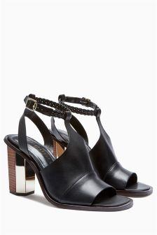 Signature Plaited Strap Leather Sandals