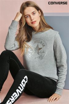Converse Grey Metallic Chuck Patch Crew